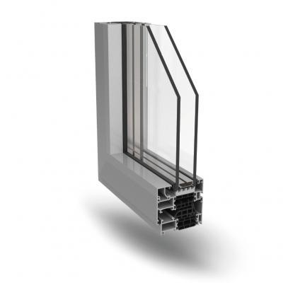 Infissi in alluminio a taglio termico Tecnoplast TS72 Slim