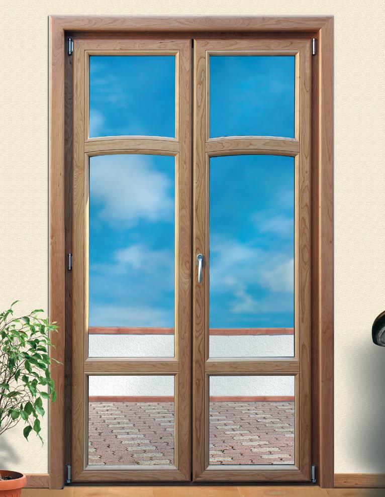 Porta finestra in legno e alluminio Solarium Solaribalta