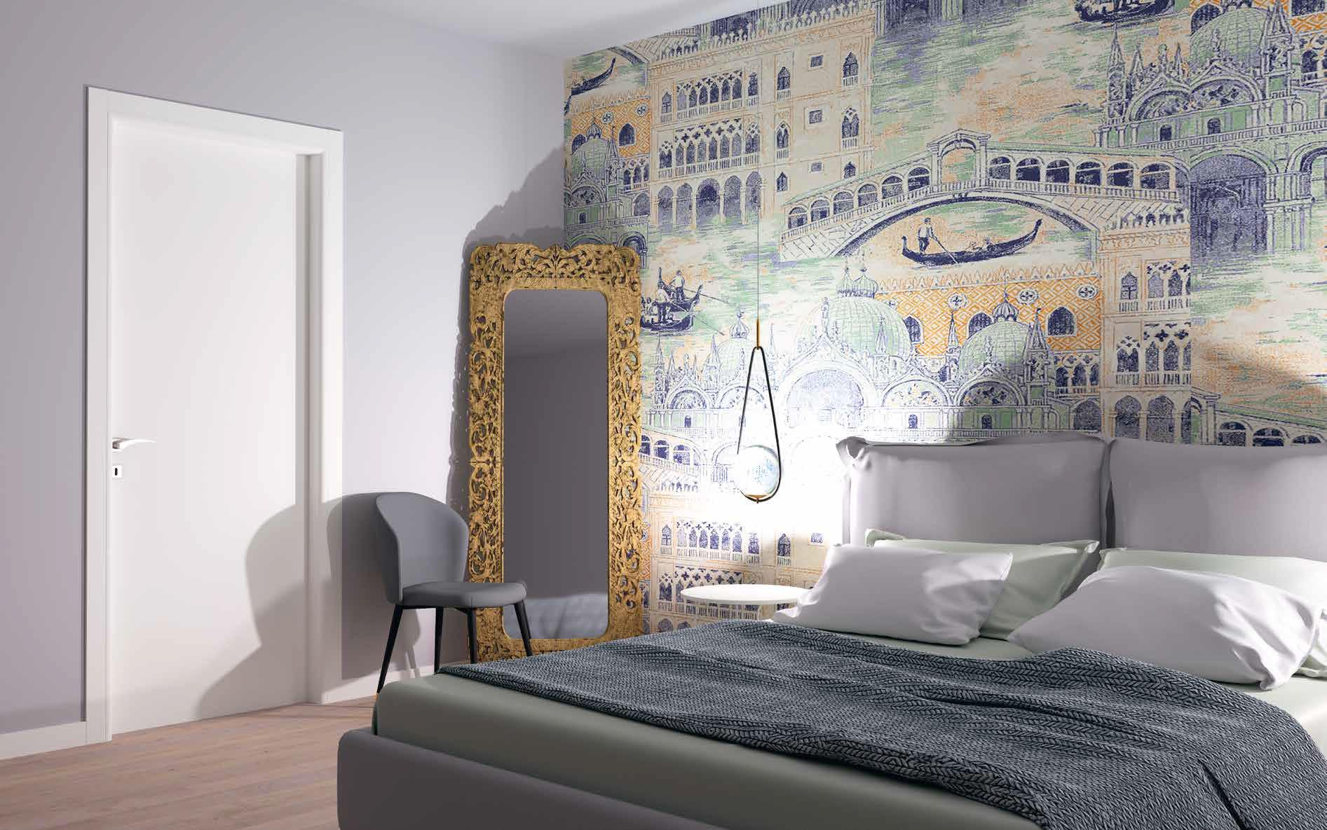Porta in laminato Manuello Design 101 bianco opaco
