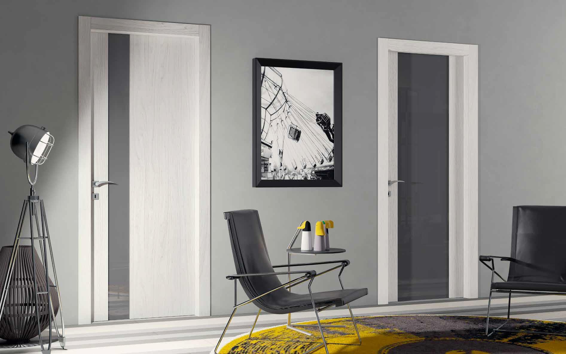 Porta in laminato Manuello Design Feelwood Islanda e vetro