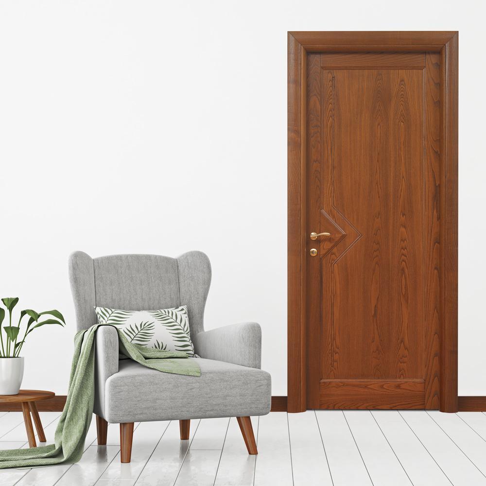 Collezione classica saturnia cieca castagno micheloni porte legno massello