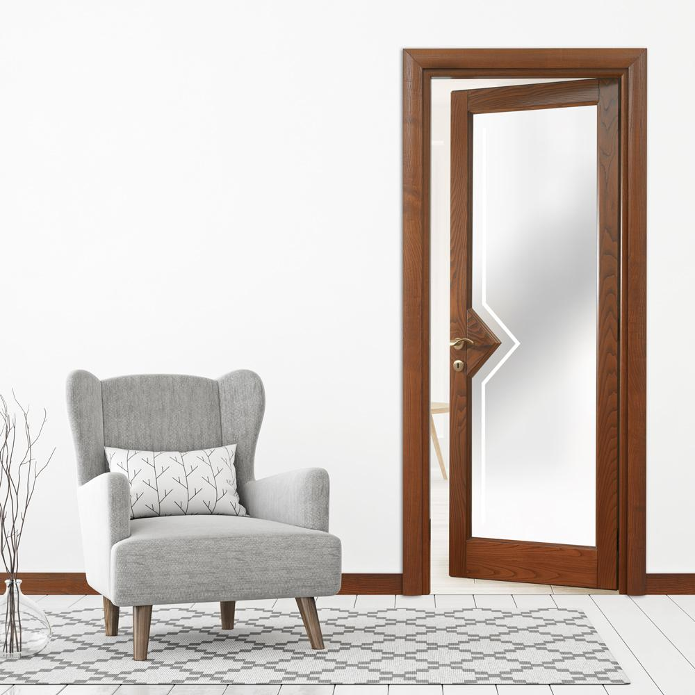 Collezione classica saturnia vetro aperta micheloni porte legno massello