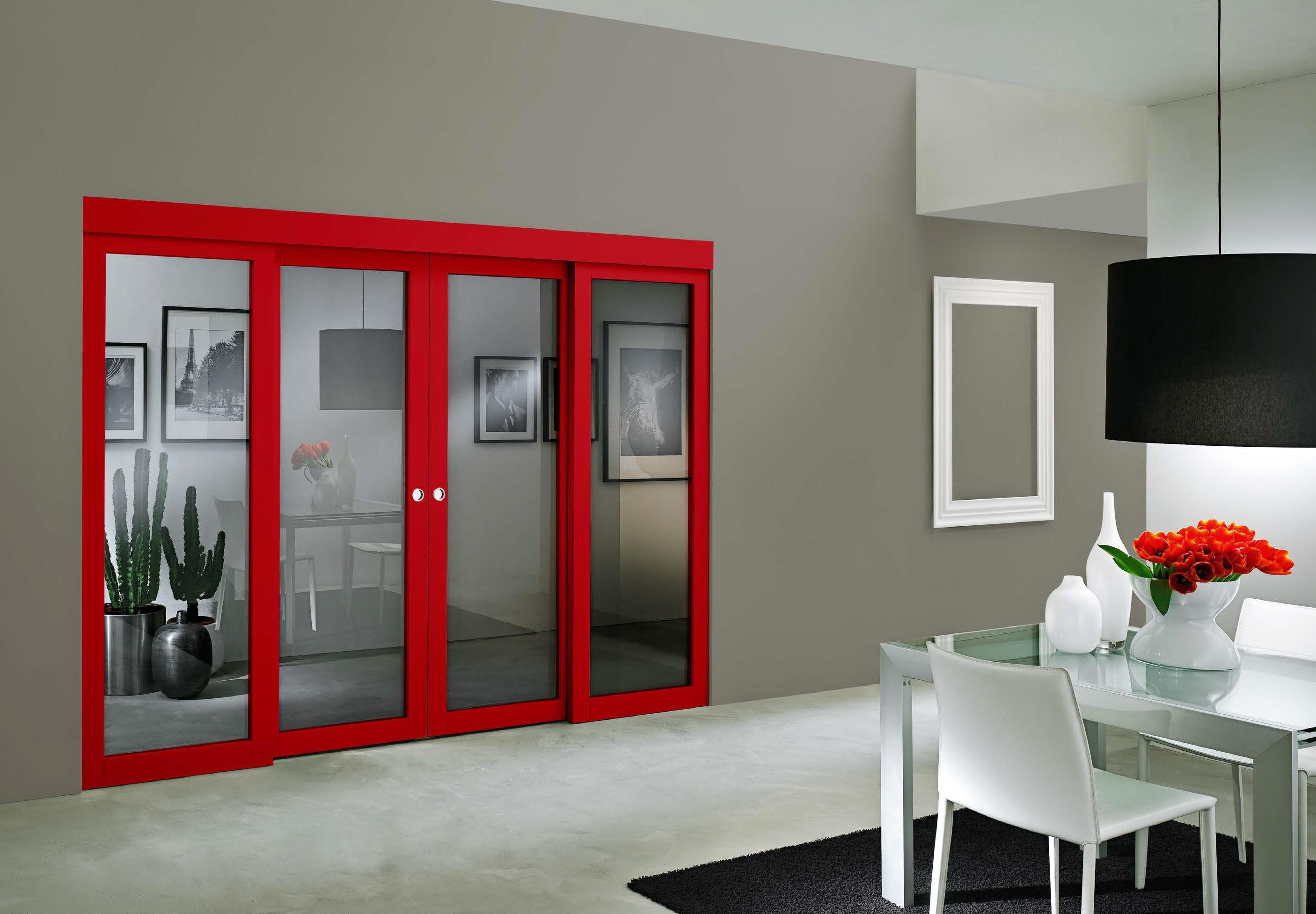 Porta scorrevole Dorica Castelli Nobile Rosso