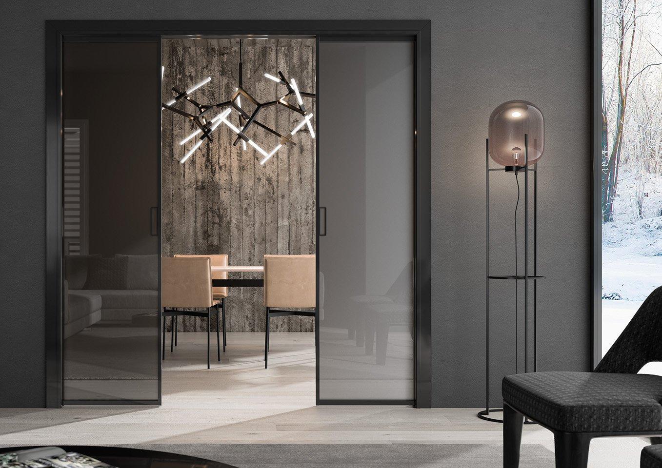 Porta scorrevole interno muro collezione Frame di Glamour Design