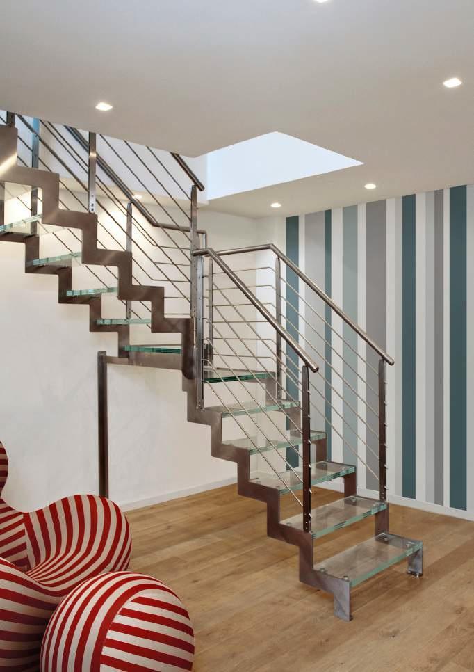 Scale a giorno NewLiving Ibisco D Bilama Glass Trasparente